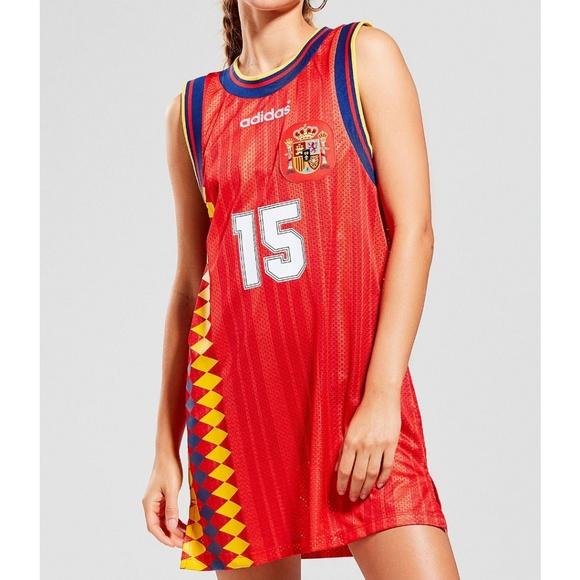 NWT Adidas Spain Soccer Jersey Dress (XL)